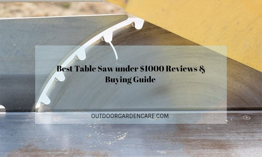 Best Table Saw under $1000 Reviews